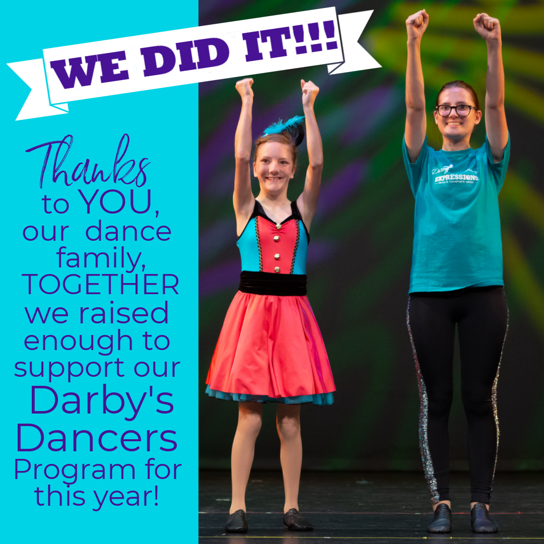 Thank you for donating to Darby's Dancers!